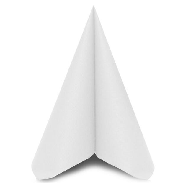 "Mank ""Uni"" weiß, 40 x 40cm, 1/4 Falz, 60g Airlaid"
