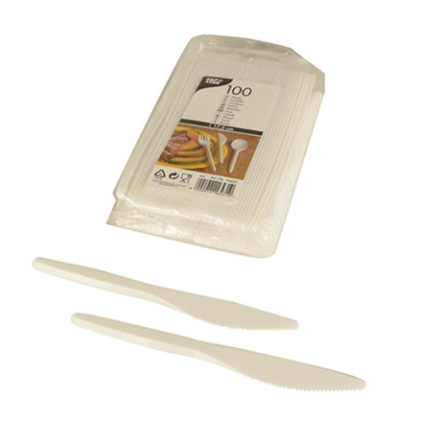 100 Messer, PS 17,5 cm weiss
