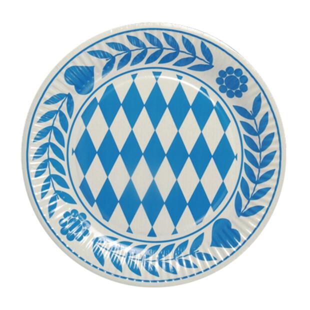 """10 Teller, Pappe rund Ø 23 cm """"Bayrisch Blau"""""""