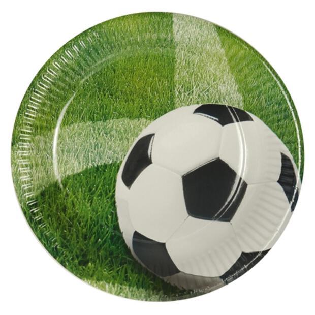"""10 Teller, Pappe rund Ø 23 cm """"Football"""""""