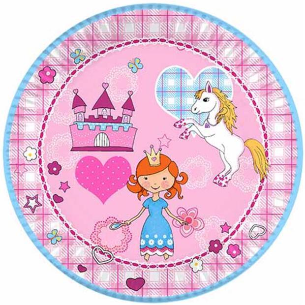 """10 Teller, Pappe rund Ø 23 cm """"Princess Dream"""""""