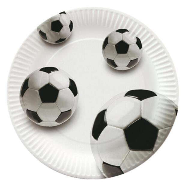 """10 Teller, Pappe rund Ø 23 cm """"Soccer"""""""