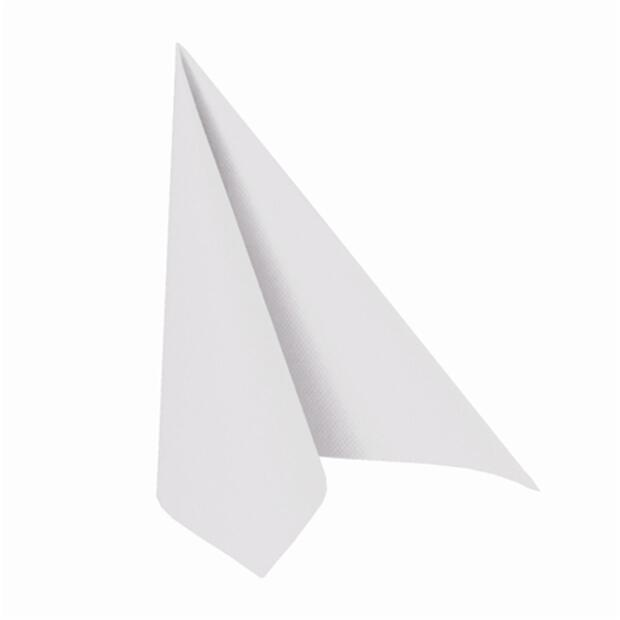 50 Servietten Papstar Royal Collection Uni weiß 40 cm x 40 cm 11622