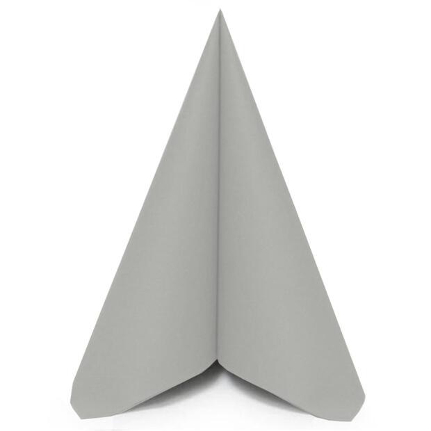50 Airlaid Servietten Mank Uni grau 40 x 40 cm 87515