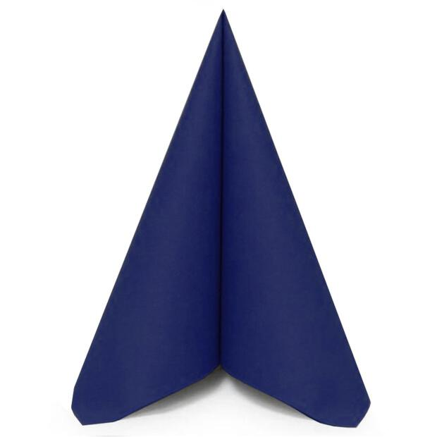 50 Airlaid Servietten Mank Uni royal-blau 40 x 40 cm 87517