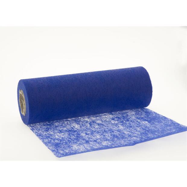 Stumpf Vlies Tischläufer 23 cm x 20m 121 blau