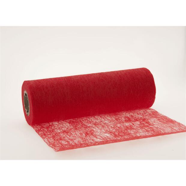 Stumpf Vlies Tischläufer 23 cm x 20m 123 rot