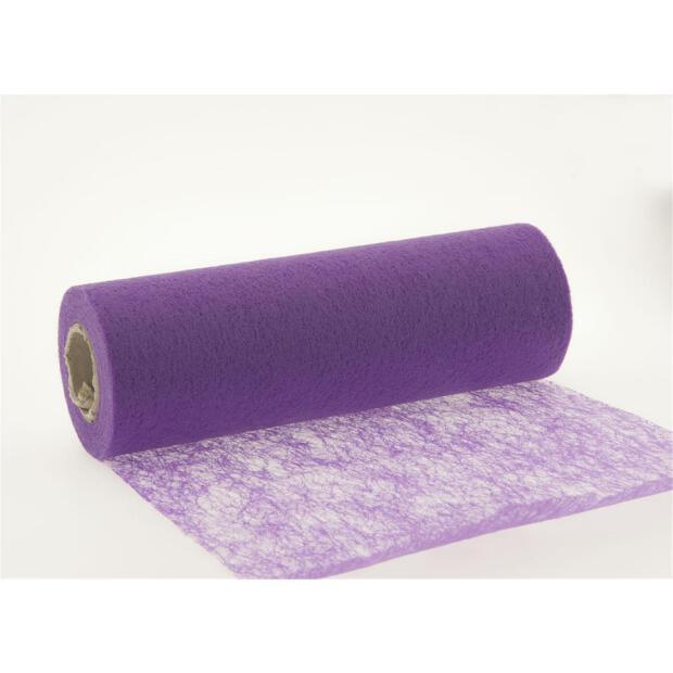 Stumpf Vlies Tischläufer 23 cm x 20m 133 violett