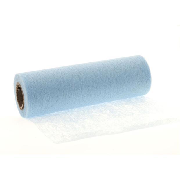 Stumpf Vlies Tischläufer 23 cm x 20m 153 hellblau
