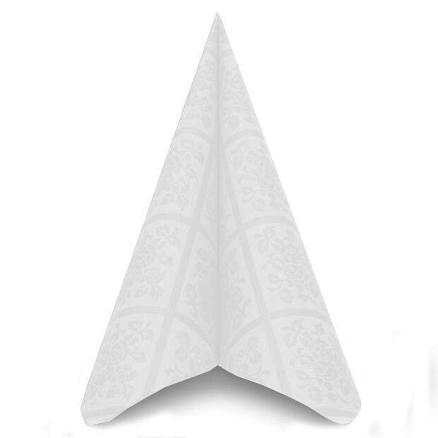 50 Airlaid Servietten Mank Damast weiß 40 x 40 cm 88299