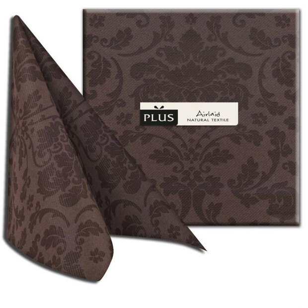 "PI ""Victoria"" cacao/braun, 40 x 40cm, 1/4 Falz, Airlaid"