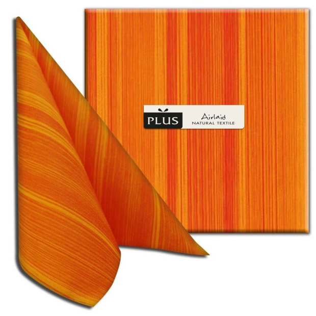 PI Soul arancio/orange, 40 x 40cm, 1/4 Falz, Airlaid