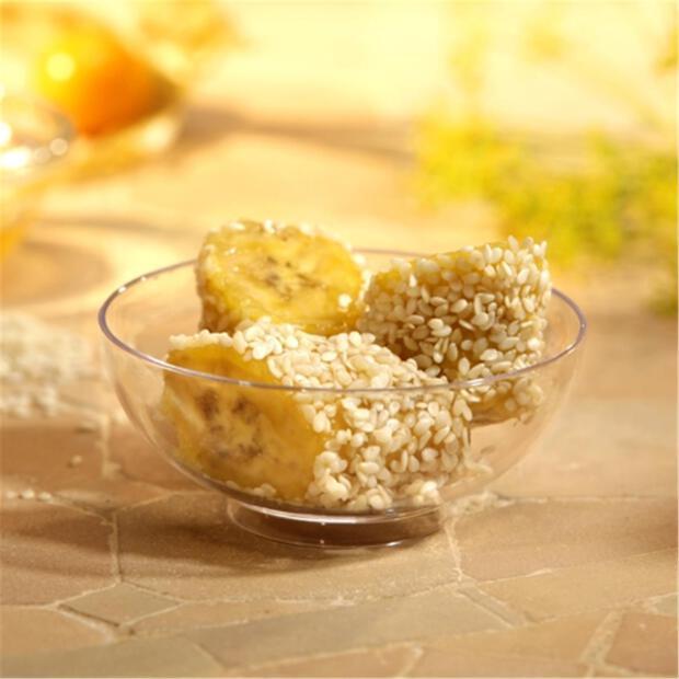 50 Fingerfood - Schalen, PS rund 65 ml Ø 7,2 cm · 3 cm glasklar