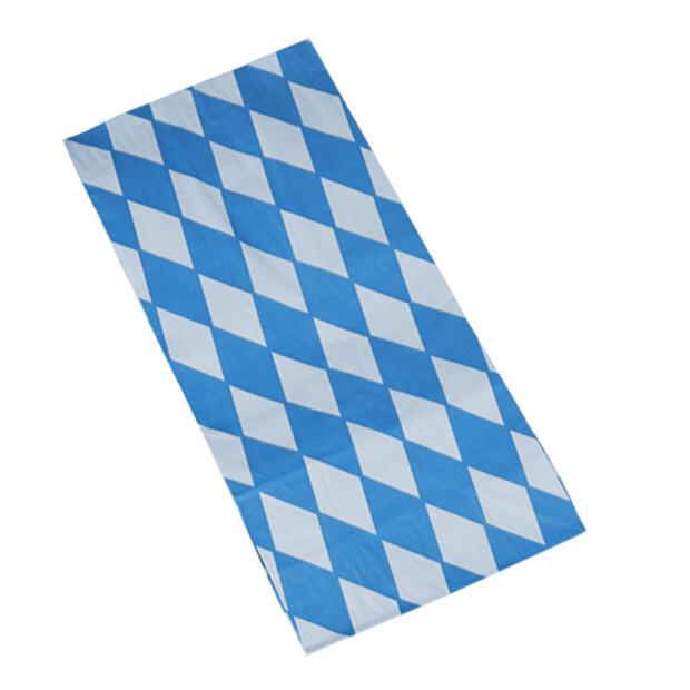 """100 Hähnchenbeutel, Papier mit Alu-Einlage 28 cm x 13 cm x 8 cm """"Bayrisch blau"""" 1/1"""