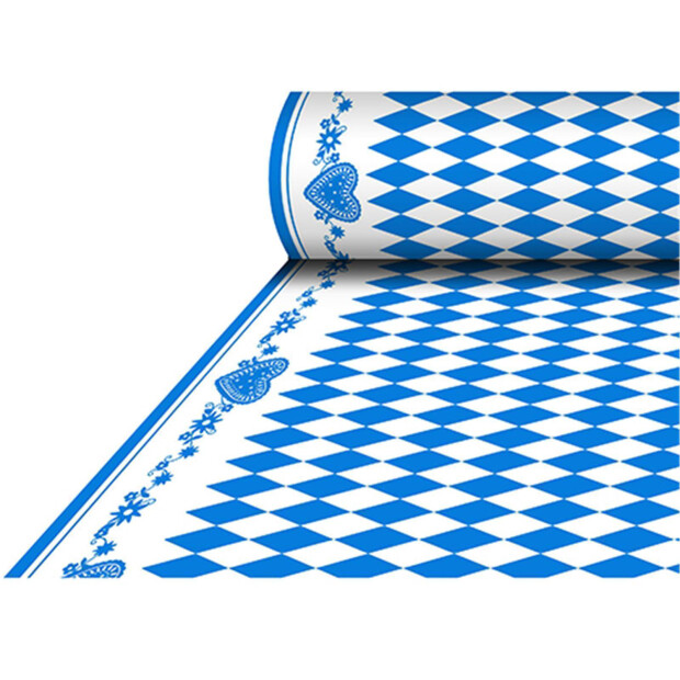 """Tischdecke, stoffähnlich, Airlaid 25 m x 1,18 m """"Bayrisch Blau"""""""