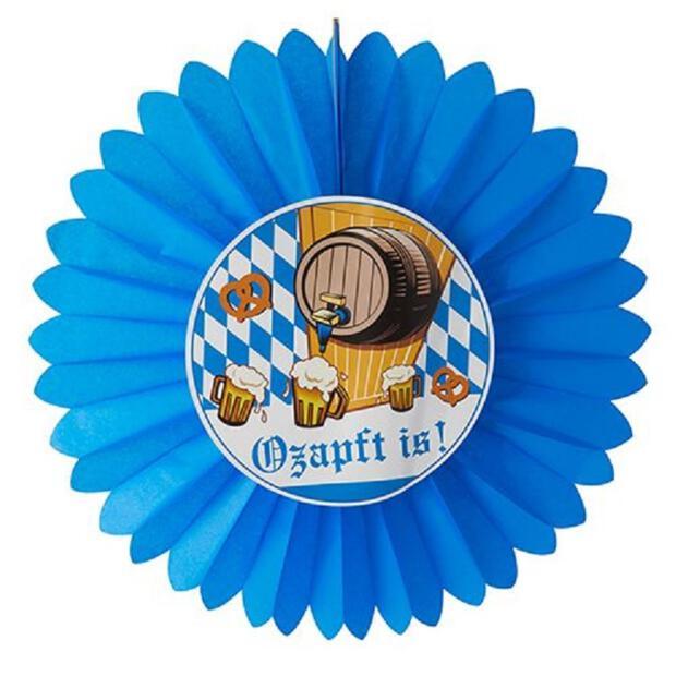 """Dekofächer Ø 60 cm """"Ozapft is!"""" schwer entflammbar"""