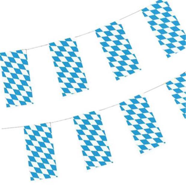 "Flaggenkette, Papier 10 m ""Bayrisch Blau"" schwer entflammbar"