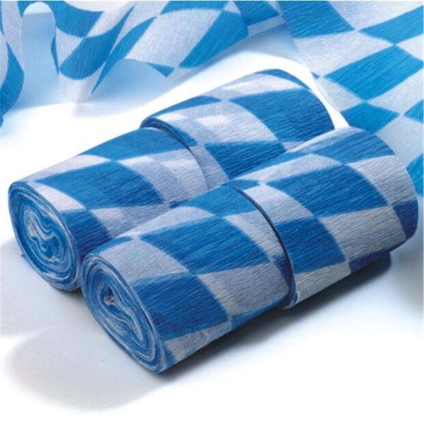 """Krepp-Bänder 10 m x 5 cm """"Bayrisch Blau"""" schwer entflammbar"""