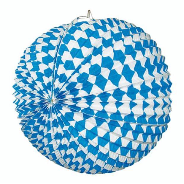 """Lampion Ø 31 cm """"Bayrisch Blau"""" schwer entflammbar"""