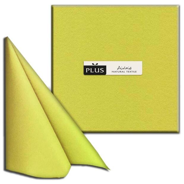 "PI ""Unicolor"" olio/ölivgrün, 40 x 40cm, 1/4 Falz, Airlaid"