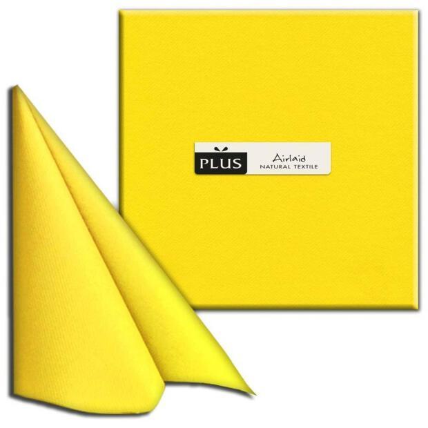 """PI """"Unicolor"""" giallo/gelb 40 x 40cm, 1/4 Falz, Airlaid"""