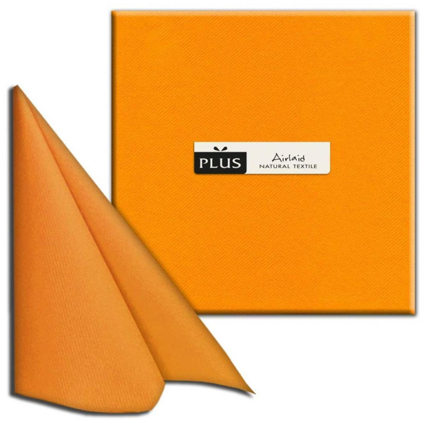 PI Unicolor arancio/orange, 40 x 40cm, 1/4 Falz, Airlaid