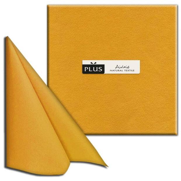 """PI """"Unicolor"""" ambra/bernstein, 40 x 40cm, 1/4 Falz, Airlaid"""