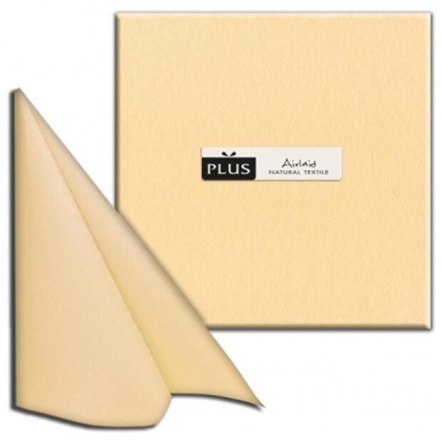 "PI ""Unicolor"" champagner, 40 x 40cm, 1/4 Falz, Airlaid"