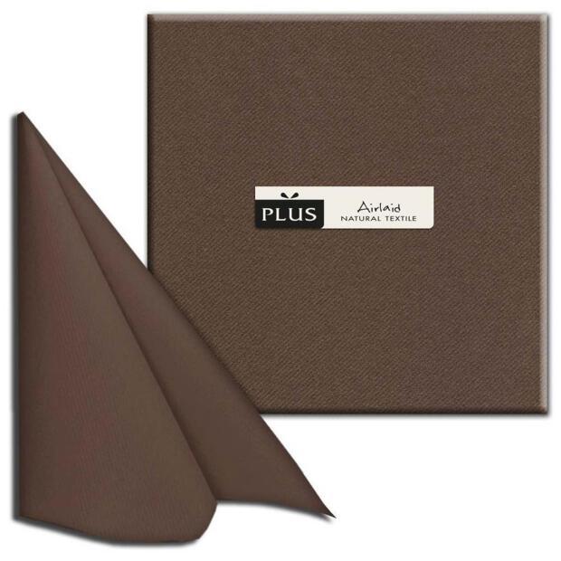 "PI ""Unicolor"" moka/braun, 40 x 40cm, 1/4 Falz, Airlaid"