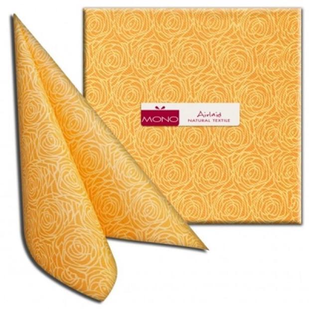 "PI ""Stilik"" giallo/gelb, 40 x 40cm, 1/4 Falz, Airlaid"