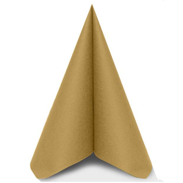 """Mank """"Uni"""" gold, 40 x 40cm, 3-lagig, 1/4 Falz, Tissue"""