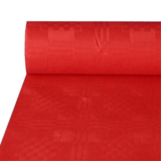 Papiertischtuch mit Damastprägung 50 m x 1 m rot