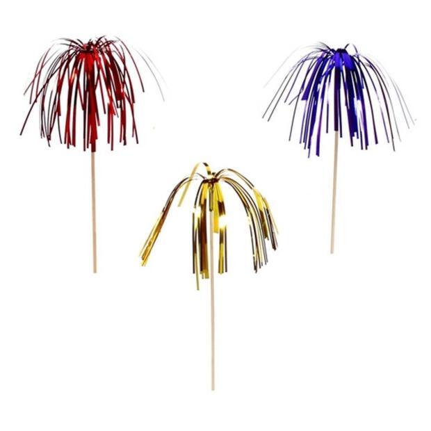 """100 Deko-Picker 15,5 cm farbig sortiert """"Feuerwerk"""""""