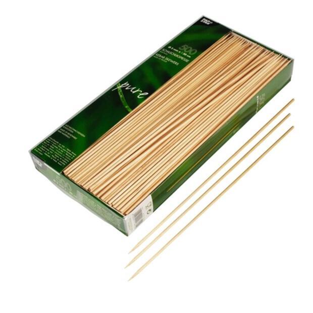 500 Papstar pure Schaschlikspieße aus Holz 3cm x 30cm 16619
