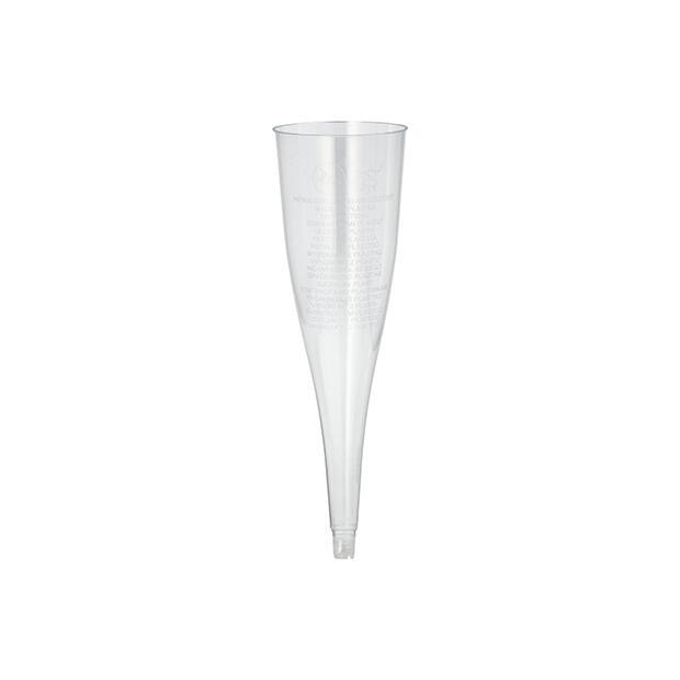 50 Stiel-Gläser (Oberteile) für Sekt, PS 0,1 l Ø 5 cm · 17,5 cm glasklar