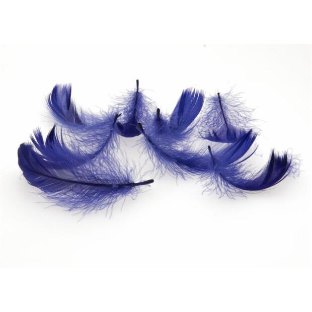Deko-Federn, 270 Stück, 15g, 121 blau