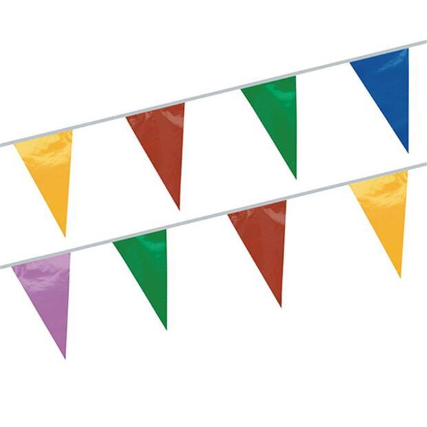 Wimpelkette, Folie 20 m farbig wetterfest