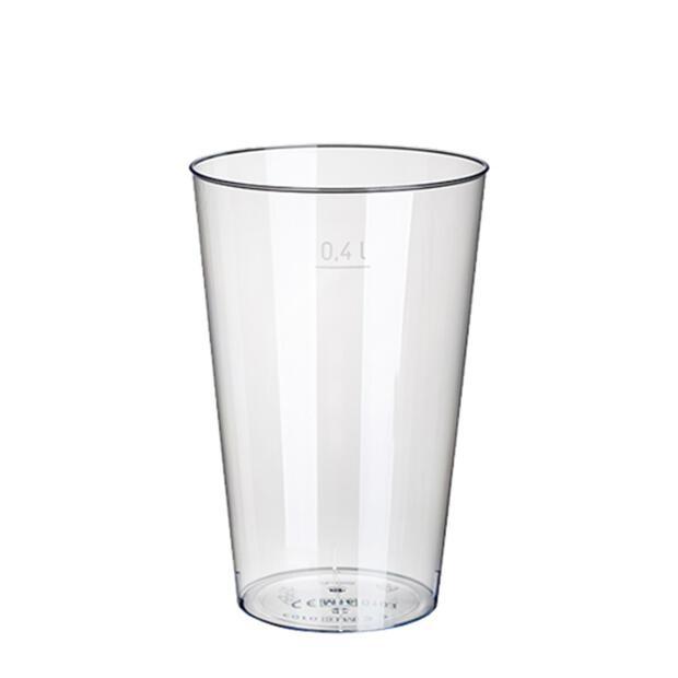 50 Trinkbecher, PS 0,4 l Ø 9 cm · 13 cm glasklar