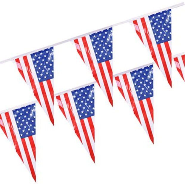 "Wimpelkette, Folie 4 m ""America"" wetterfest"