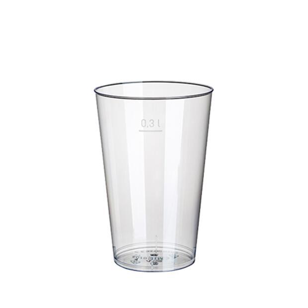 50 Trinkbecher, PS 0,3 l Ø 7,9 cm · 11,9 cm glasklar