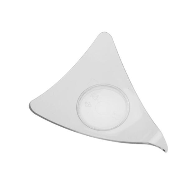 50 Fingerfood - Dreieck Schalen, PS 7,7 cm x 9,5 cm x 9,5 cm glasklar