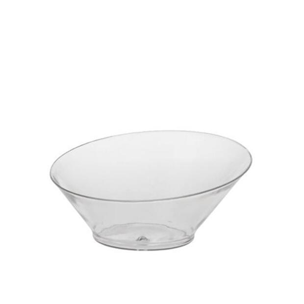 """20 Fingerfood - Schalen, PS rund 75 ml Ø 9 cm · 3,9 cm glasklar """"Diagonal"""""""