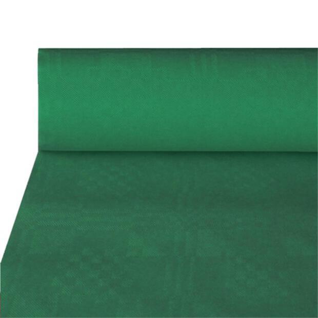 Papiertischtuch mit Damastprägung 50 m x 1 m dunkelgrün