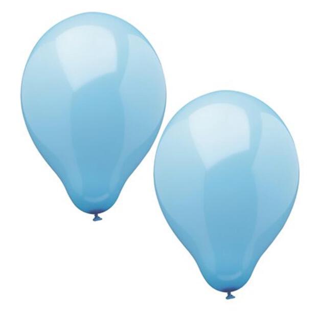 Papstar 10 Luftballons Ø 25 cm hellblau