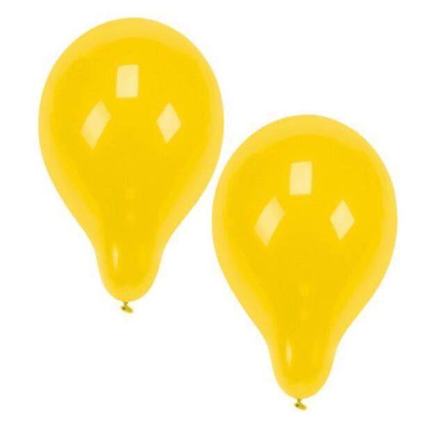 10 Luftballons Ø 25 cm gelb