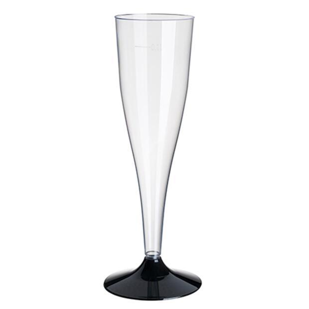 6 Stiel-Gläser für Sekt, PS 0,1 l Ø 5 cm · 17,5 cm glasklar