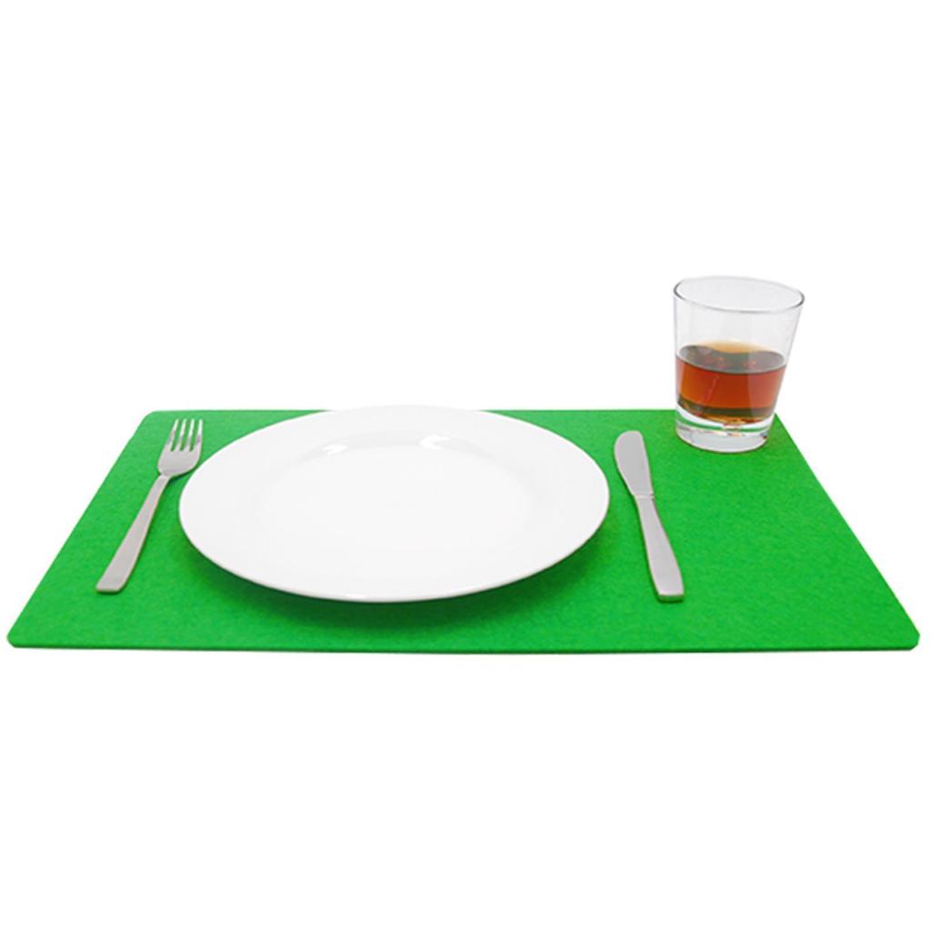 Filzuntersetzer Platzset Tischset Topfuntersetzer abgerundet eckig 45x30 cm gelb
