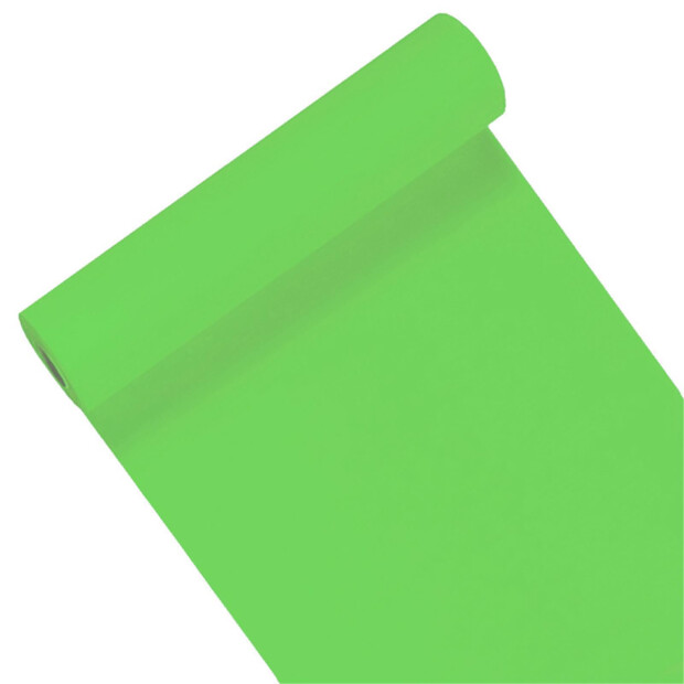 Tischläufer Airlaid Mank Uni apfelgrün 40 cm x 24m 46542