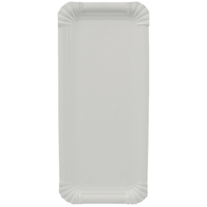 250 Teller, Pappe pure eckig 11 cm x 24 cm weiss