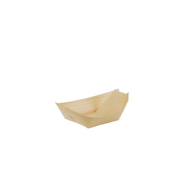 """50 Papstar pure Fingerfood-Schalen aus Holz 11cm x 6,5cm """"Schiffchen"""" 84414"""